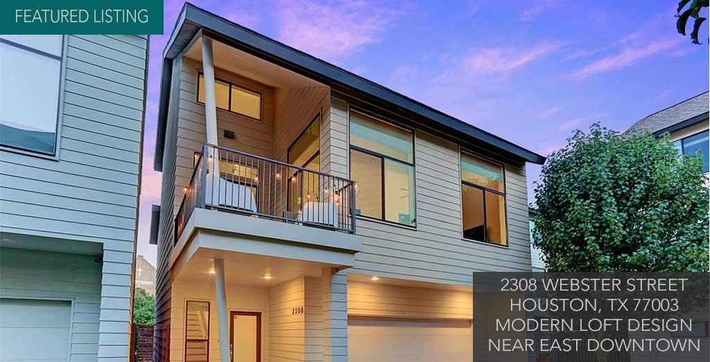 Houston townhomes modern homes for sale inner loop for Modern home builders houston