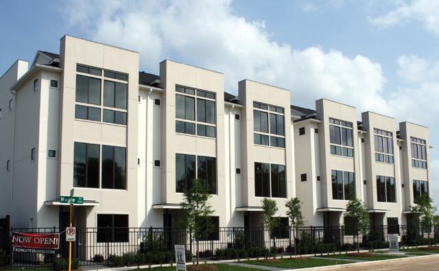 Downtown lofts midtown townhomes houston tx for Modern houses in houston