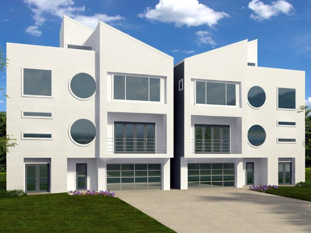 Montrose modern homes upper kirby townhomes houston for Modern houses in houston