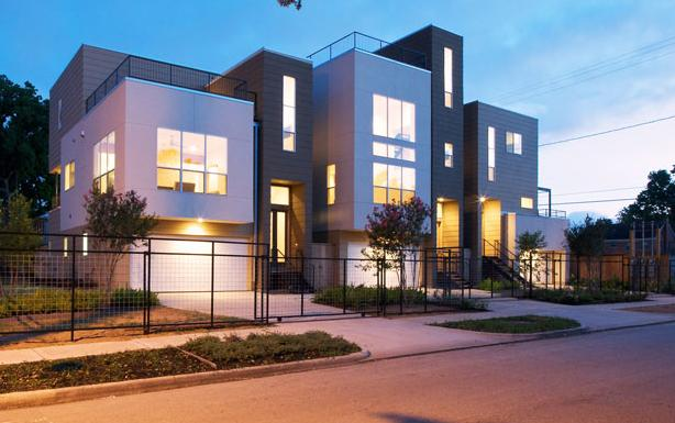 Multi family architecture on pinterest santa monica for Modern houses in houston