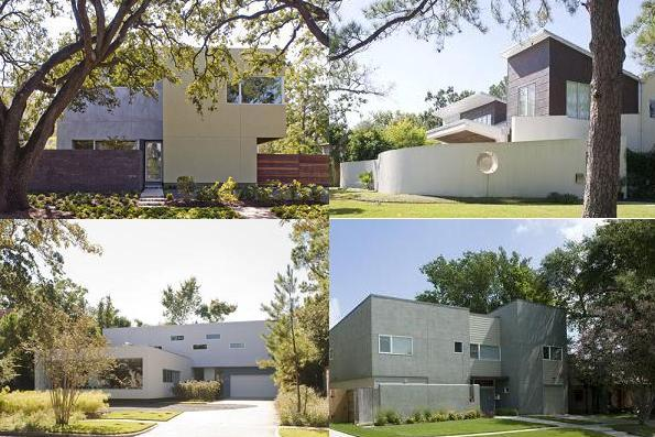 Rice village modern homes museum district townhomes for Modern houses in houston